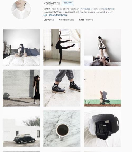 the mostly-white instagrams. so chic. (this is less creepy bc i kind of know this person fine it's still creepy bye)